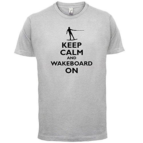 Keep Calm and Wakeboard On - Herren T-Shirt - 13 Farben Hellgrau