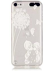 Funda de silicona para iPod Touch 5/Touch 6,MUTOUREN Funda de silicona transparente de TPU protector de la cubierta del funda para el diseño iPod Touch 5/Touch 6 pintado>Pu Gongying y jóvenes amantes