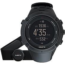 Suunto, AMBIT3 PEAK HR, Reloj GPS Unisex Multisports/Outdoor, 30 h duración de la batería, Monitor frecuencia cardiaca + Cinturón de frecuencia cardiaca (Talla: M), Sumergible hasta 100m, Azul, SS020674000