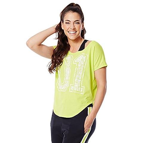 Zumba Fitness WT Team Pride Tulip Top T-shirt pour femme XXL Vert - vert
