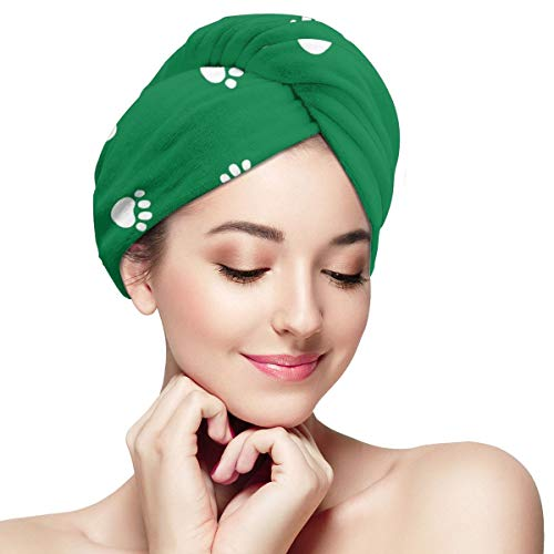 Funny Club (Funny Club Hair Drying Towel Paws Paws Dog Paw Pets Wraps for Women Shower Turban Microfiber Quick Magic Drying Wrapped Bath Cap)