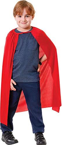 Bristol Novelty CC998 Kinder Superhelden-Cape, Rot, Unisex, Einheitsgröße
