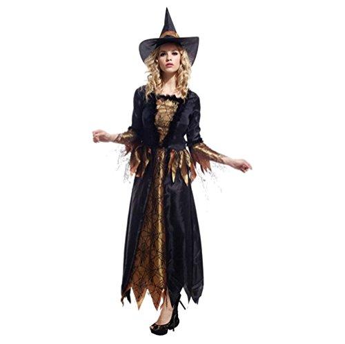 Halloween Jester Für Frauen Kostüm (Halloween/kost¨¹m/f¨¹r frauen/sexy rock/partei/hexe kost¨¹m/ piraten-kost¨¹m-schwarz One)