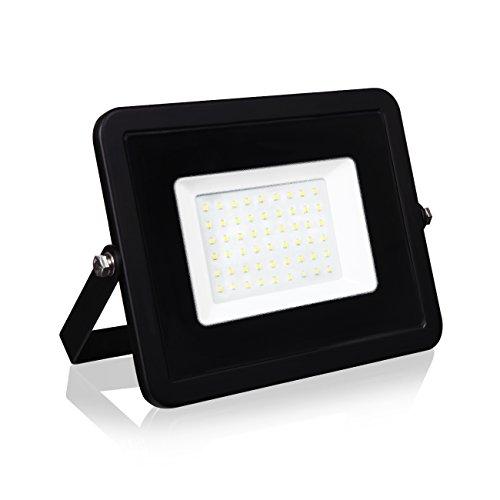LVWIT Foco Proyector LED 50W, 4500 lm, Foco LED Exterior Blanco Frío, IP65 Impermeable - Floodlight Jadín