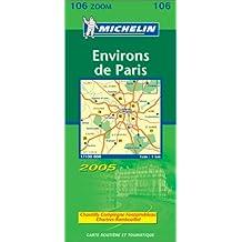 Carte routière : Environs de Paris (départements 78 - 92 - 93 - 94 - 95)