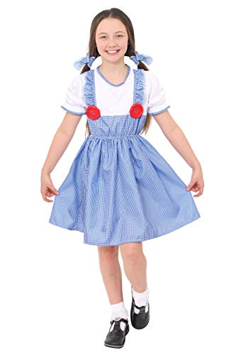 Oz Kostüm Of Toto Wizard - ILOVEFANCYDRESS Damen Kleid Blau BLUE,WHITE 7-9 Jahre