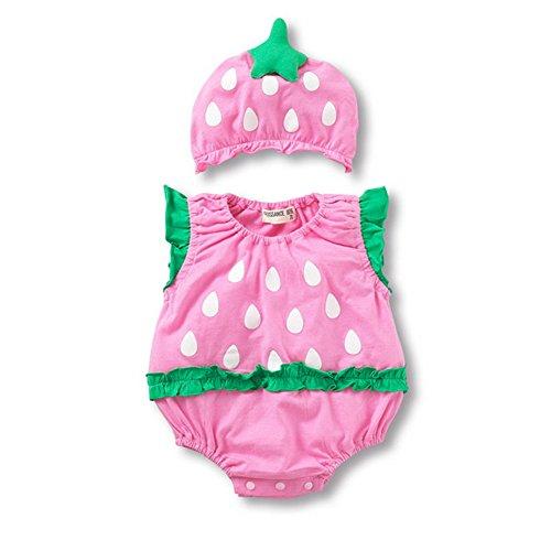 Araus neonata pagliaccetto ragazze vestiti tutine estivo con cappello