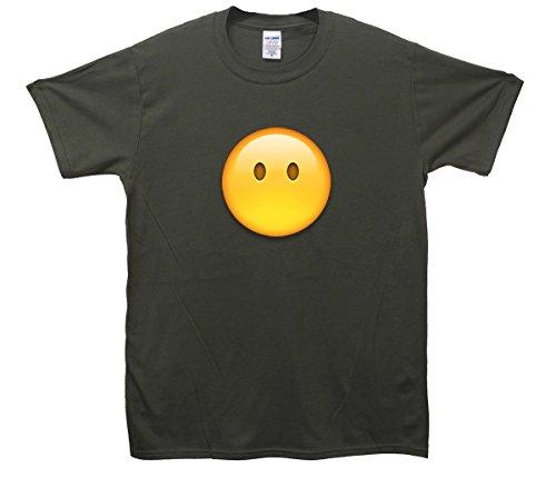 Blank Face Emoji T-Shirt Khaki