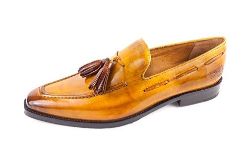 Melvin & Hamilton Herren Leonardo 1 Loafer Slipper Camel Braun Gr. 41 (Hamilton Loafer)