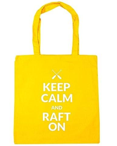 HippoWarehouse Keep calm and raft on Tote Shopping Gym Beach Bag 42cm x38cm, 10 litres