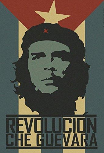 Revolution Che Guevara Cuba Metal Sign deko Schild Blech Garten ()
