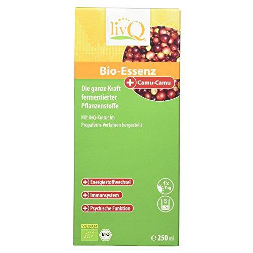 LivQ Bio-Essenz Camu-Camu, Vitaldrink, Obst, Gemüse & Superfoods hochkonzentriert fermentiert + Vitamin C, 250ml