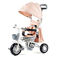 KKCD - Baby Pram Kids Trike 4 in 1 Tricycle 3 Wheel Baby Bike with Push Handle Buggy