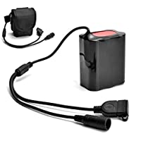 8.4V 12000 mAh rechargeable 6x18650 batería Pack para lámpara luz bicicleta bici Batería recargable con bolsas de batería para linterna bicicleta Antorcha Sannysis