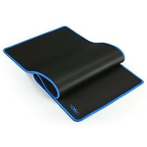 AOSO grandi dimensioni Gaming Mouse Pad con speciale-superficie strutturata, Silky Backing liscia, antiscivolo, superficie impermeabile e bordi rifiniti (Blu)