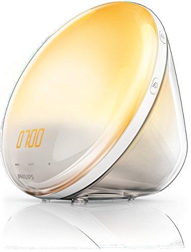Philips HF3520/01 Wake-Up Light (Sonnenaufgangfunktion, digitales FM Radio, Tageslichtwecker) weiß - 2