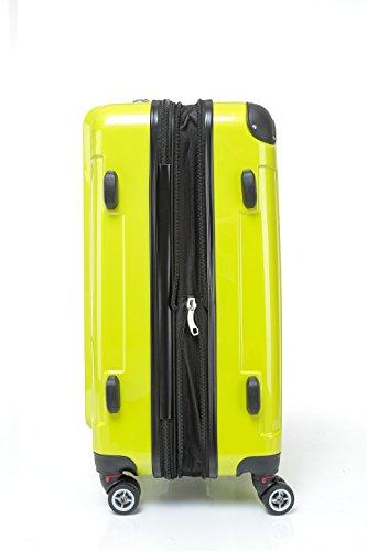 BEIBYE Zwillingsrollen 2048 Hartschale Trolley Koffer Reisekoffer in M-L-XL-Set in 14 Farben (Set, GRÜN) - 6