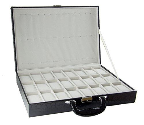 Feibrand PU Uhrenbox für 36 Uhren -