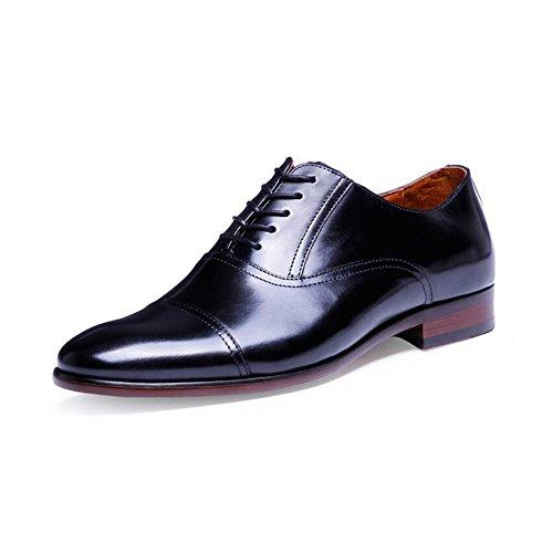 mit Oxford Schnürung Business-Schuhe, Herren-Schuhe Größe 6-14, Schwarz, 54 ()