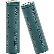 FSKE 18650 Batería Recargable de Ion-Litio 3.7V 3000mAh para Cigarrillos electrónicos (2