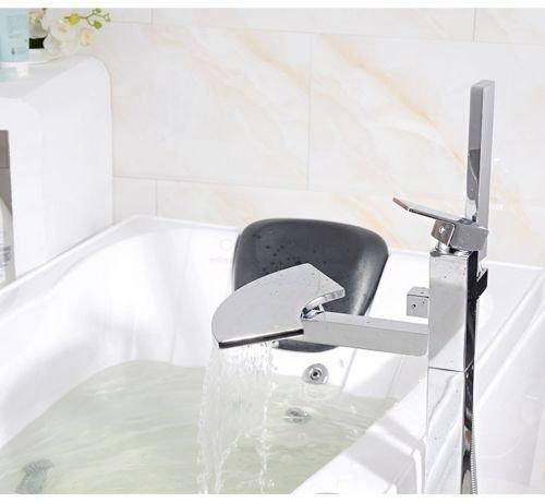 UHM, Wasserfall, Whirlpool Badewanne montieren Filler faucet mixer freistehende Dusche - 3