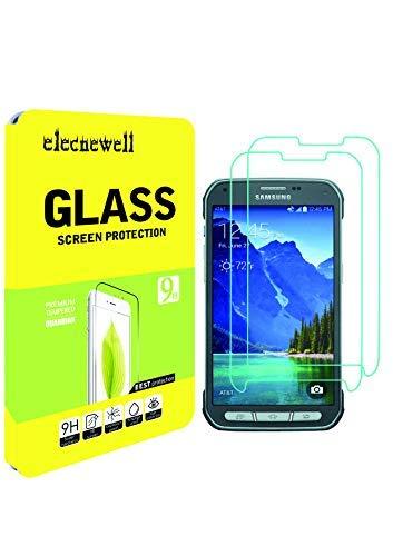 Newell [2Pack] Galaxy S5Active Displayschutzfolie, 0,26mm Premium gehärtetes Glas Displayschutzfolie für Samsung Galaxy S5Active Anti-Fingerprint Guard blasenfrei, Kratzfest (Protector Screen S5-fingerprint)