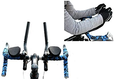 T-6061 Alloy Triathlon Aerodynamic Position Bike Handlebars for Road Mountain Bike Cycling Race Bicycle MTB Color Black from FIVE FLOWER