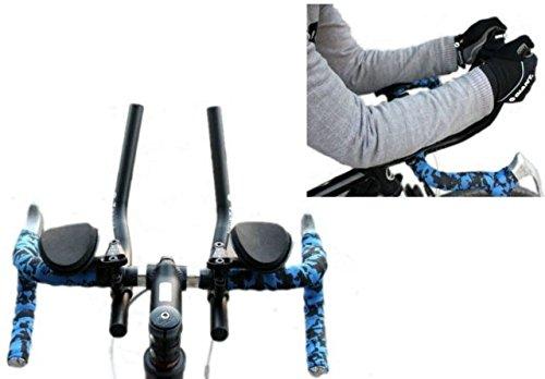 Lenkeraufsatz Triathlon-Lenker T-6061, Legierung, aerodynamisch, für Rennräder und Mountainbikes, Schwarz
