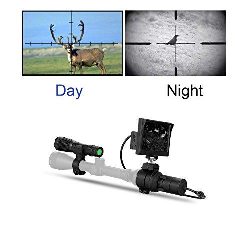 WILDGAMEPLUS Digital IR Nachtsichtgerät 5000 Joule Recoil Shock Widerstand Schießen 650ft Reichweite Batteriebetriebene Zielfernrohr erfasst für die Jagd WGX3