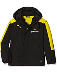 Puma Kinder Bvb Rain Jacket with Hood and Sponsor Jacke