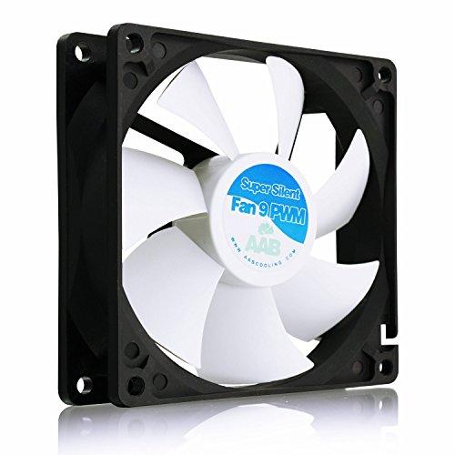 AAB Cooling Super Silent Fan 9 PWM - 92mm leise und effizient Gehäuselüfter mit 4 Anti-Vibrations-Pads - perfekt für CPU-Kühler (Belüftung Lüfter Motor)