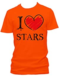 I love Stars Fun Herren T-Shirt