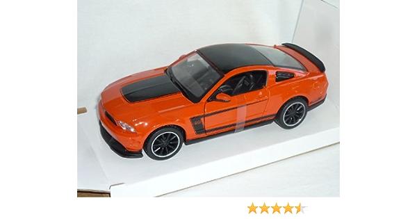 Maisto Ford Mustang Boss 302 2011 Orange Schwarz 1 24 Modellauto Modell Auto Spielzeug