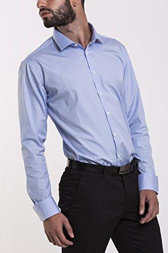 Atelier Boldetti - Camicia Uomo Elegante Slim Fit Azzurro Cielo