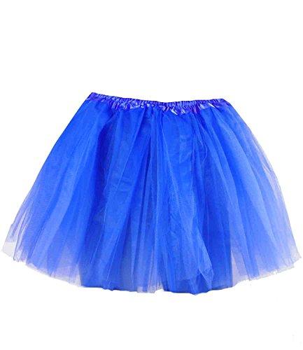 caripe Tutu Ballettrock Tüllrock für Erwachsene und Kinder in vielen Farben - Tütü (blau - (Erwachsene Tutus Für Blau)
