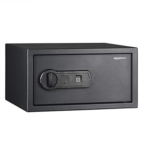 AmazonBasics - Caja fuerte con lector biométrico de huella dactilar - 20 l