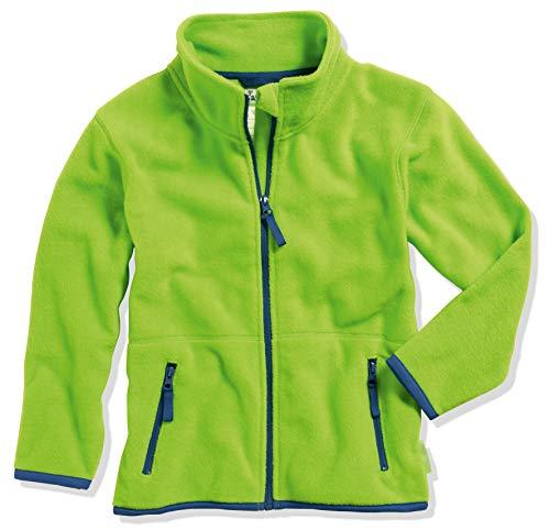 Playshoes Mädchen Fleece farbig abgesetzt Jacke, grün 29, 140