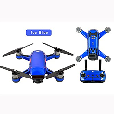 PVC Stickers for SPARK,Lommer Ice series Decals Waterproof Protective Skin Cover Body Arm Battery Stickers for DJI Spark Fly More Combo FPV Drone Parts Accessories