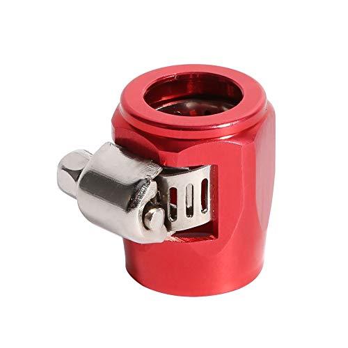 Schlauchenden, AN6 Schlauchenden Heizöl Wasserleitung Clip Clamp für Auto Auto(rot) -