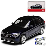 BMW X1 E84 SUV Dunkel Blau Fast Schwarz 1. Generation 2009-2015 H0 1/87 Herpa Modell Auto