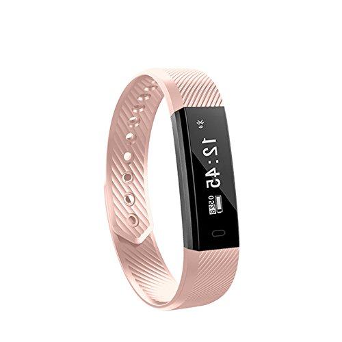 Fitness Tracker Watch, Bluetooth Smart Armband Activity Tracker Watch mit mehreren Sportarten / Schritte Zähler / Schlaf-Monitor / GPS-Armband für Android und iOS Smartphone verbunden (Rosa) (Gps-marken-liste)