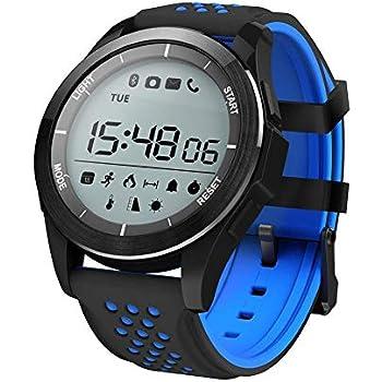 Febelle Reloj Pulsera Inteligente Luz Ultravioleta Luminosa Ip68 Impermeable Elevación Corriendo Smartwatch Podómetro Compatible iOS Android Negro y ...