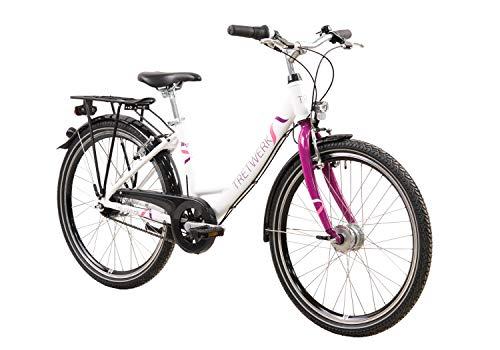 tretwerk DIREKT gute Räder Magnolia 24 Zoll Mädchenrad, Jugend-Fahrrad 7 Gang Nabenschaltung