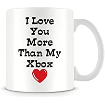 Funny Valentine's Mug - I Love You More Than My Xbox - Great Gift/Present Idea