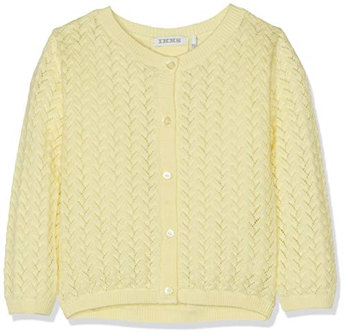 IKKS Junior Cardigan Tricot Jaune Clair Gilet, 71, 18-24 Mois (Taille Fabricant:2A) Bébé Fill