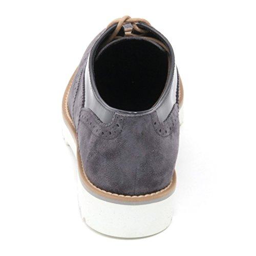 B6102 scarpa inglese donna HOGAN H259 ROUTE francesina grigio shoe woman Grigio