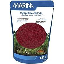 Marina decorativo acuario grava, 450g, color rojo