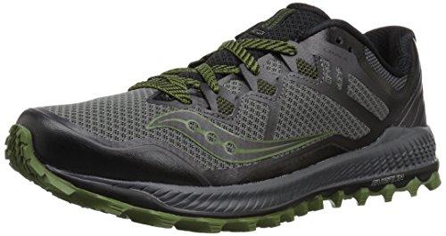 Saucony Peregrine 8 Men's Trail Grey, Black, Green S20424 1