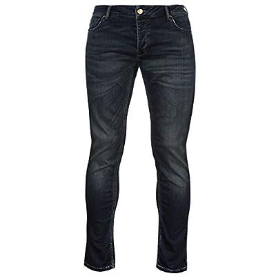 Firetrap Mens Jersey Jeans Slim Fit Denim Trousers Casual Pants Bottoms