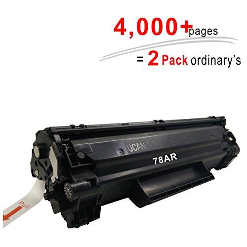 4,000 Páginas UCAN 78a CE278a Cartuchos de Tóner para impresoras HP Laserjet Pro 1566 1600 P1600 1606 1606dn P1606 P1606dn (Equivalente a 2 Paquetes ordinarios)